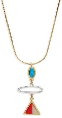 Madewell Stone Inlay Pendant Necklace