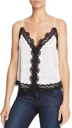 CAMI NYC Knox Lace-Trimmed Silk Camisole Top