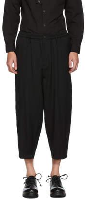 Yohji Yamamoto Black Button Wool Trousers