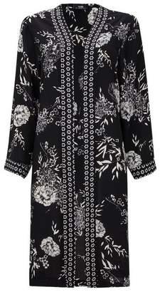 Wallis Black Floral Print Border Jacket