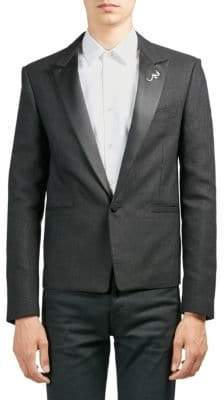 Saint Laurent Cropped Tuxedo Jacket