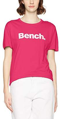 Bench Women's Grown on Sleeve, Corp Print Tee T-Shirt,(Manufacturer Size: S)