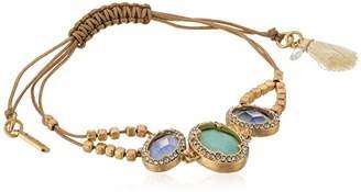 lonna & lilly Women's Gold-Tone and Stone Slider Bracelet