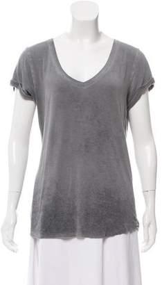 Paige Denim Distressed Short-Sleeve Top