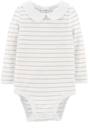 Osh Kosh Oshkosh Bgosh Baby Girl Lurex Stripe Bodysuit