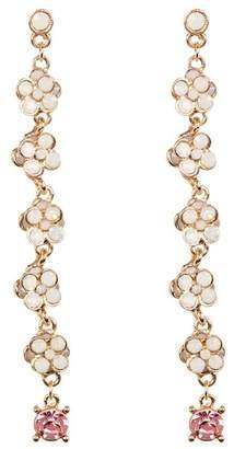 Cara Accessories Rhinestone Cluster Drop Earrings