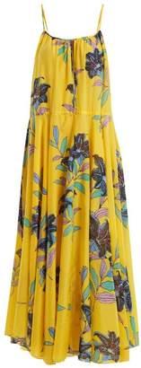Diane von Furstenberg Floral Print Cotton And Silk Blend Dress - Womens - Yellow Print