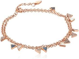 Fossil Triangle Double Bracelet