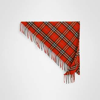 Burberry The Mini Bandana in Check Cashmere