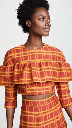 Tata-Naka Tata Naka Crop Top with Frill