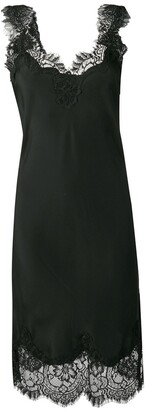 Gold Hawk lace trim sleeveless dress