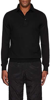 Barneys New York Men's Wool Polo Sweater - Black