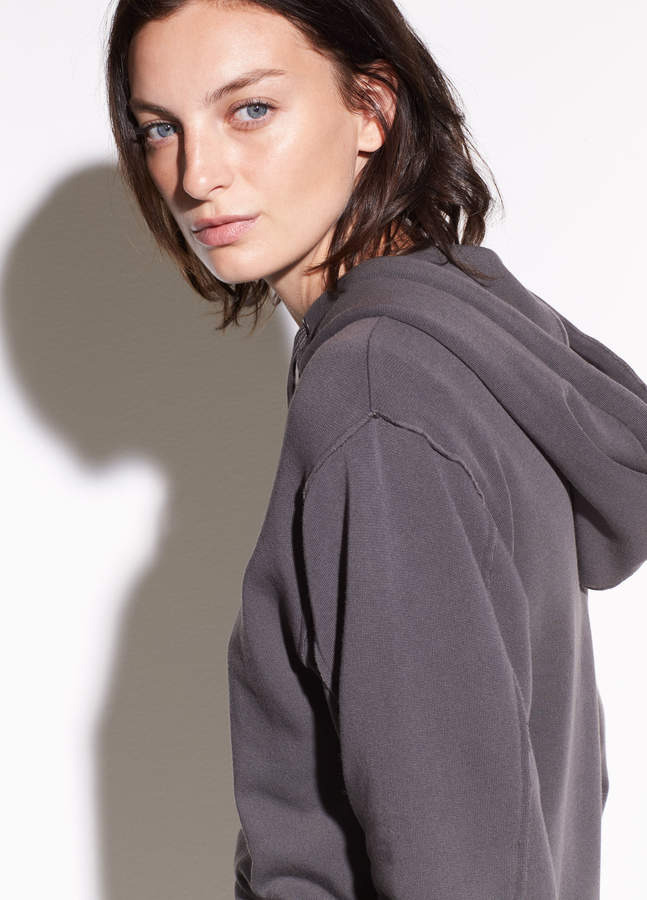 Raw Edge French Terry Hoodie