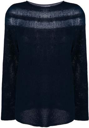 Cruciani sheer-panel jumper