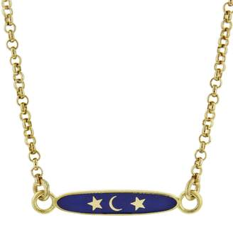 Foundrae Karma Enamel Charm Necklace - Yellow Gold