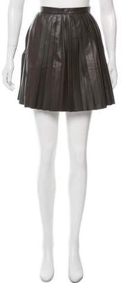 Candela Leather Mini Skirt w/ Tags