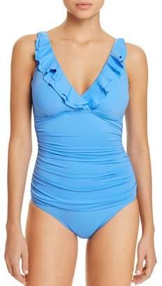 Ralph Lauren Beach Ruffled One Piece Swimsuit