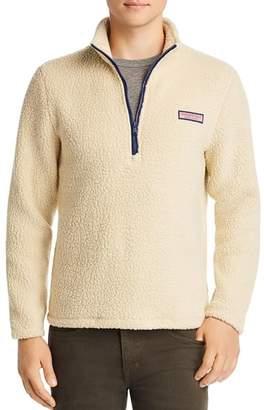 Vineyard Vines Collegiate Heritage Sherpa Half-Zip Pullover Jacket