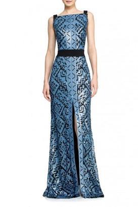 Tadashi Shoji Sleeveless Ohanna Dress $488 thestylecure.com