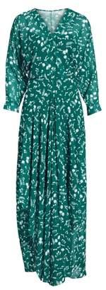Maje Floral Print Maxi Dress