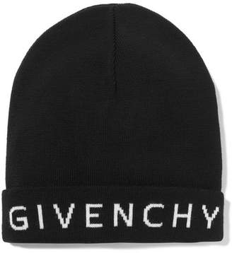 Givenchy Intarsia Wool Beanie - Black