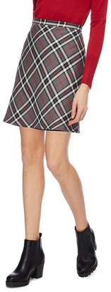 Red Herring Red And Grey Checked Skirt