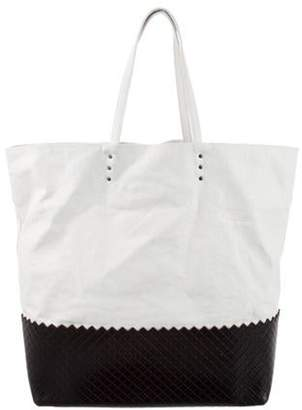 Bottega Veneta Coated Canvas Tote Bag White Coated Canvas Tote Bag