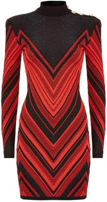Balmain Chevron Bodycon Dress