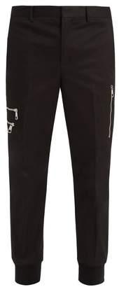Neil Barrett Mid-rise cotton-twill trousers