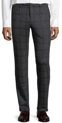 Zanella Windowpane Jersey Trousers