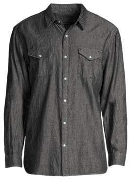 John Varvatos Long Sleeve Button-Down Pocket Shirt