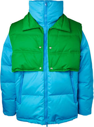 Calvin Klein Oversized Quilted Shell Down Jacket With Detachable Gilet