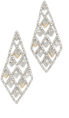 Alexis Bittar Crystal Spiked Lattice Earrings $345 thestylecure.com