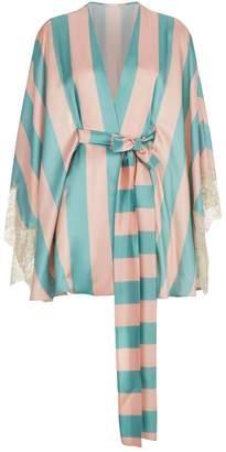 Rosamosario Striped Kimono Robe
