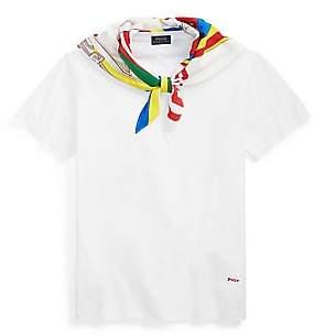 ac597a89e6 Polo Ralph Lauren Women s Silk Scarf T-Shirt