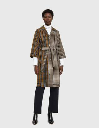 Hope Win Contrast Check Jacket