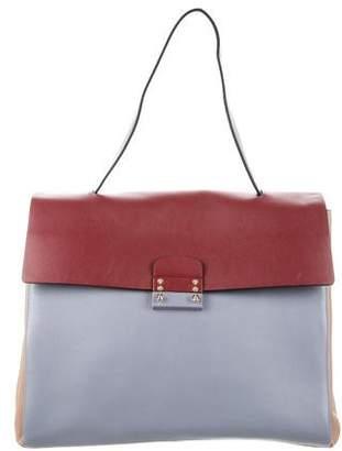 Valentino Colorblock Leather Satchel