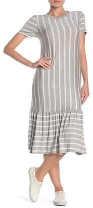 Cotton Emporium Striped Ruffle Hem Midi Dress