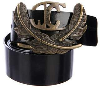 Just Cavalli Leather Buckle Belt