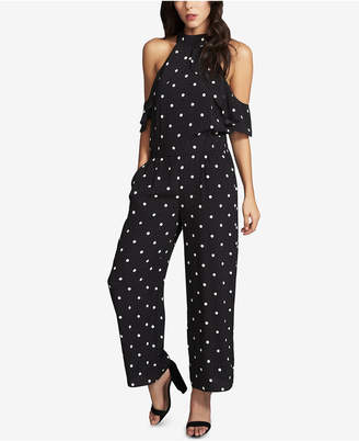 1 STATE 1.STATE Mock-Neck Flounce Jumpsuit