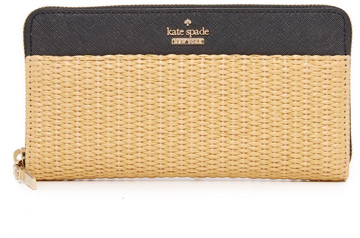 Kate SpadeKate Spade New York Straw Lacey Zip Around Wallet