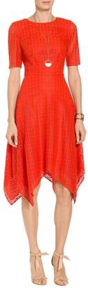 St. John Geo Motif Lace Dress