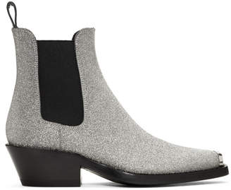 Calvin Klein Silver Western Claire Boots