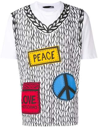 Love Moschino placement printed sweater T-shirt