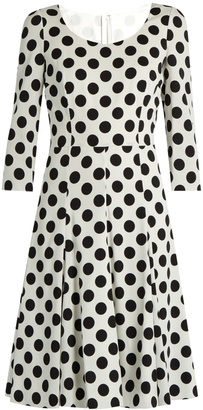 DOLCE & GABBANA Polka-dot print silk-blend charmeuse dress $2,595 thestylecure.com