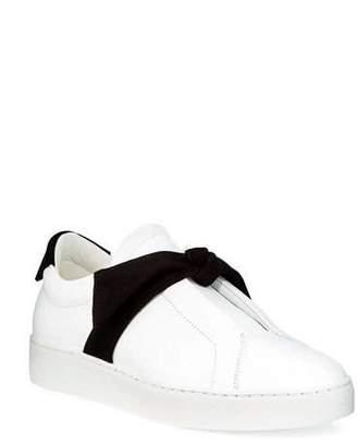 Alexandre Birman Clarita Two-Tone Sneakers, White/Black