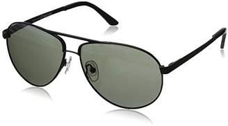 Hang Ten Gold Classic Aviator HTG1011 C2 Polarized Round Sunglasses