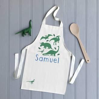 Littlechook Personalised Childrens Clothing Personalised Dinosaur Apron