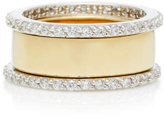 Fallon Band Gold-Plated Cubic Zirconia Ring