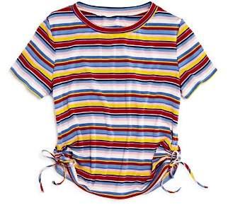 Aqua Girls' Striped Side-Tie Tee, Big Kid - 100% Exclusive